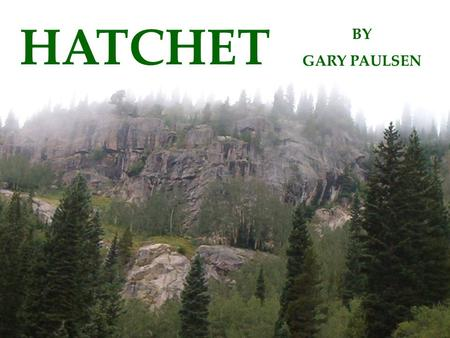 HATCHET BY GARY PAULSEN. Characters Brian Robeson, a 13 year old boy, is on is way to his dad's oil field in Canada. The pilot is flying Brian to his.
