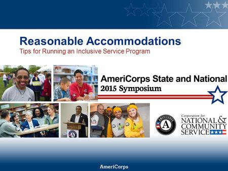Reasonable Accommodations Tips for Running an Inclusive Service Program.