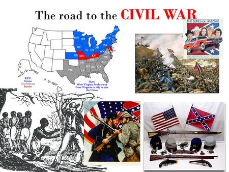 "The road to the CIVIL WAR. Words you gotta know to understand why the Civil War happened 1. abolitionist 2. ""Underground Railroad"" 3. Uncle Tom's Cabin."