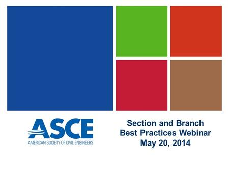 Section and Branch Best Practices Webinar May 20, 2014.