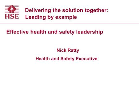 Delivering the solution together: Leading by example