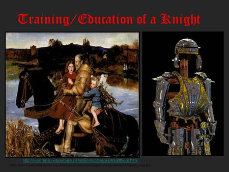Training/Education of a Knight