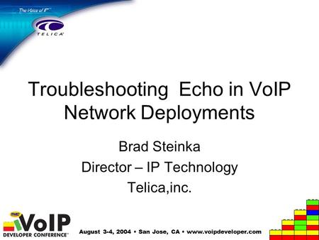 Troubleshooting Echo in VoIP Network Deployments