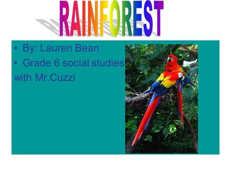 By: Lauren Bean Grade 6 social studies with Mr.Cuzzi.