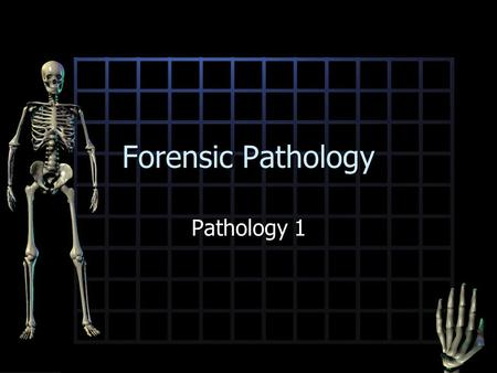 Forensic Pathology Pathology 1. The Science of Pathology Branch of medicine associated with the study of structural changes caused by disease or injury.