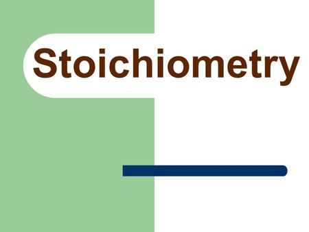 "Stoichiometry Stoichiometry Consider the chemical equation: 4NH 3 + 5O 2  6H 2 O + 4NO There are several numbers involved. What do they all mean? ""stochio"""