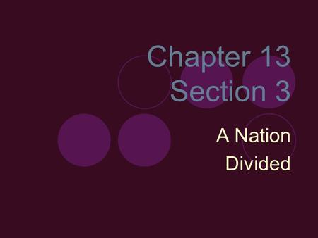 Chapter 13 Section 3 A Nation Divided. African Americans Move Northward After the Great Migration, {African Americans still were moving north for economic.