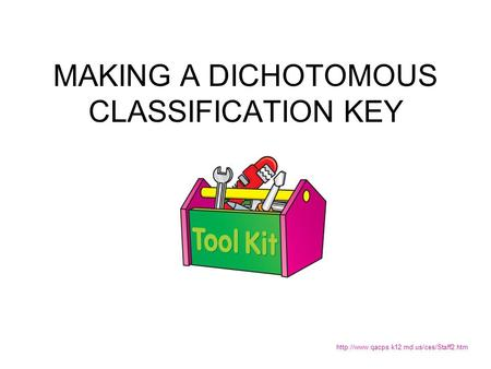 MAKING A DICHOTOMOUS CLASSIFICATION KEY
