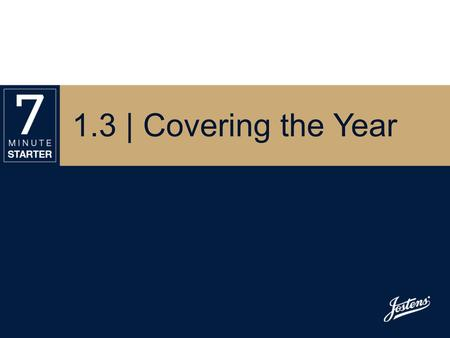 1.3 | Covering the Year. STEP 1 - LEARN View this presentation and take notes on the verbal and visual elements of a yearbook. Use Handout 1.3 – Yearbook.