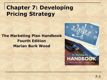 Chapter 7: Developing Pricing Strategy