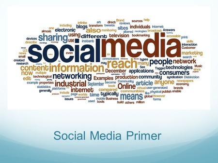 Social Media Primer. Social Media is Great For: Building awareness and attracting new business Fostering community Providing helpful content and information.