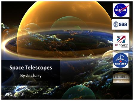 By Zachary Space Telescopes. Contents 4 = Part 1 – Introduction 6 - 8 = Part 2 – History 10 = Part 3 – Fame 12 - 13 = Part 4 – How Do They Work 19 - 21.