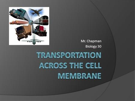 Mr. Chapman Biology 30. 2 Main Types of Transport  There are 2 main types of transport when it comes to molecules moving across the cell membrane. 