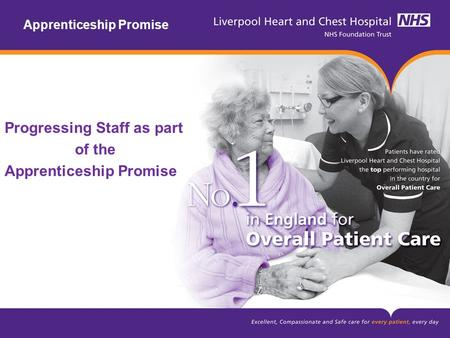 Apprenticeship Promise Progressing Staff as part of the Apprenticeship Promise.