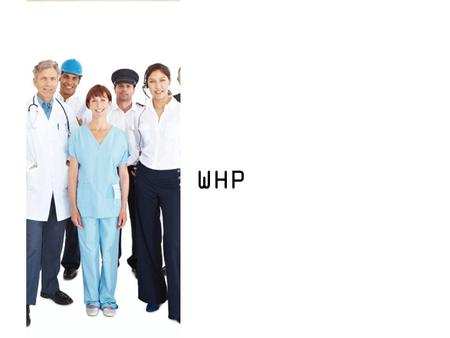 WHP. What is WHP? A Government Financial Incentive to encourage Company to start and sustain health program for staff. Example of program and activity: