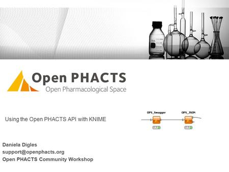 Using the Open PHACTS API with KNIME Daniela Digles Open PHACTS Community Workshop.