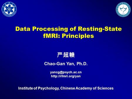Data Processing of Resting-State fMRI: Principles