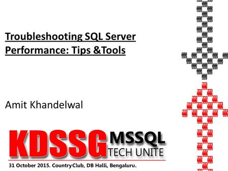 Troubleshooting SQL Server Performance: Tips &Tools Amit Khandelwal.