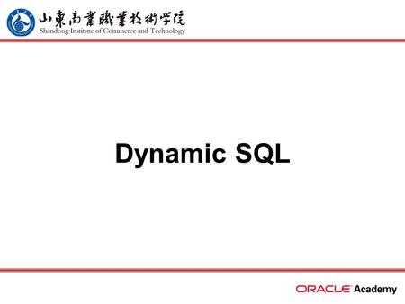 Dynamic SQL. 2 home back first prev next last What Will I Learn? Recall the stages through which all SQL statements pass Describe the reasons for using.