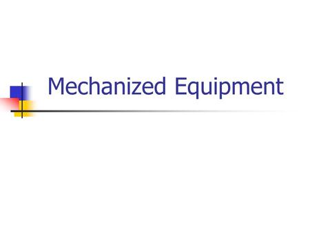 Mechanized Equipment. Subpart G, Most Frequently Cited (1999) 1926.602(a)(9)(ii) No reverse alarm signal on earthmoving equipment 1926.602(a)(9)(I) No.