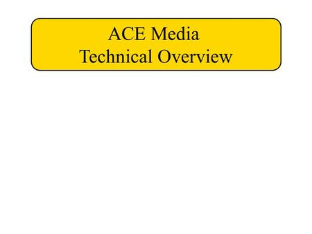 ACE Media Technical Overview. Input Edit Output & Store Digital Camera - still and video Scanner - print or transparency Computer Adobe Photoshop iMovie/iDVD.
