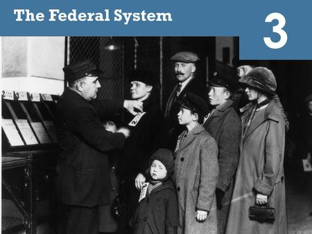 3 The Federal System Immigration is a politically contentious subject that requires cooperation between national, state, and local governments. The United.
