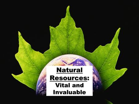 ©2009 abcteach.comabcteach.com Natural Resources: Vital and Invaluable.