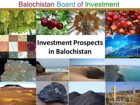 Investment Prospects in Balochistan