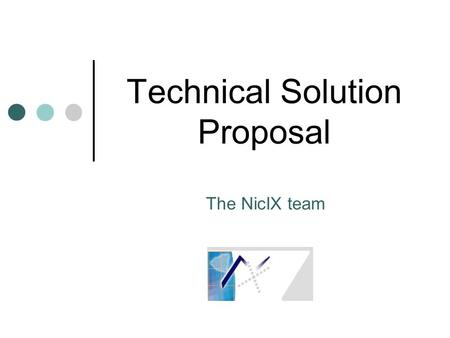Technical Solution Proposal
