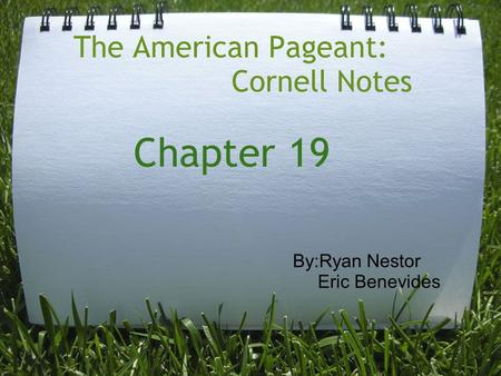 American pageant chapter questions 27