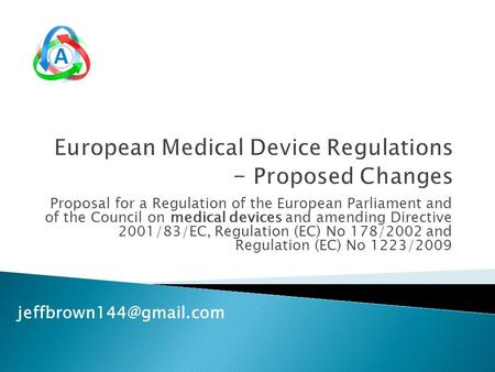 Proposal for a Regulation of the European Parliament and of the Council on medical devices and amending Directive 2001/83/EC, Regulation (EC) No 178/2002.