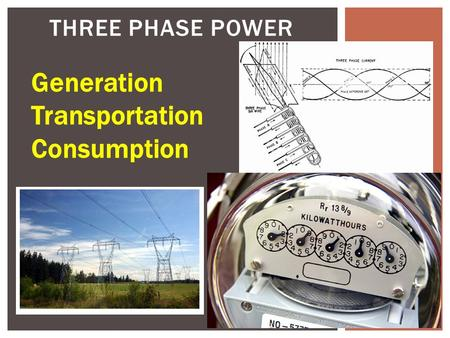 THREE PHASE POWER Generation Transportation Consumption.
