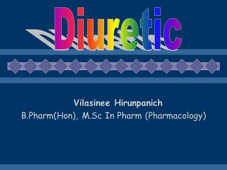 Diuretic Agents Clinical Physiology And