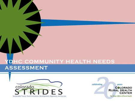 YDHC COMMUNITY HEALTH NEEDS ASSESSMENT. A hospital initiated, community based assessment of health, healthcare, and healthy living in Washington and Yuma.