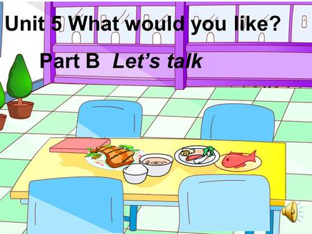 Unit 5 What would you like? Part B Let's talk. 1.It's dinner time. ( ) 2.Mike would like a knife and fork. ( ) 3.Mike can use chopsticks. ( ) 4. Wu.