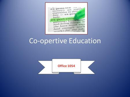 Co-opertive Education. Employability Skills Profile.