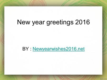 New year greetings 2016 BY : Newyearwishes2016.netNewyearwishes2016.net.