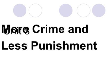 Unit 3 More Crime and Less Punishment. Which countries do you think are the safest in the world?