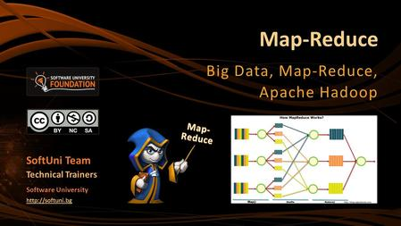 Map-Reduce Big Data, Map-Reduce, Apache Hadoop SoftUni Team Technical Trainers Software University