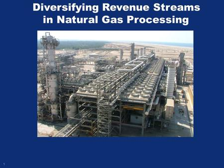 1 Diversifying Revenue Streams in Natural Gas Processing.