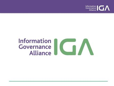 We are a group of national health and care organisations working together to provide a joined up and consistent approach to information governance. We.