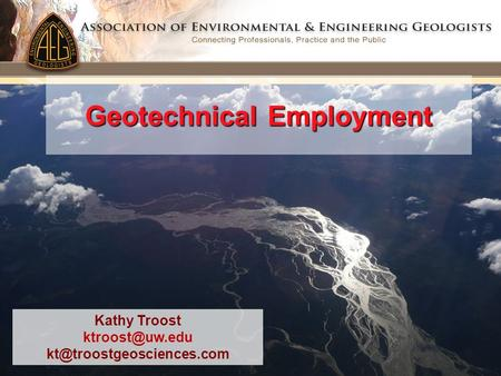 Geotechnical Employment Kathy Troost
