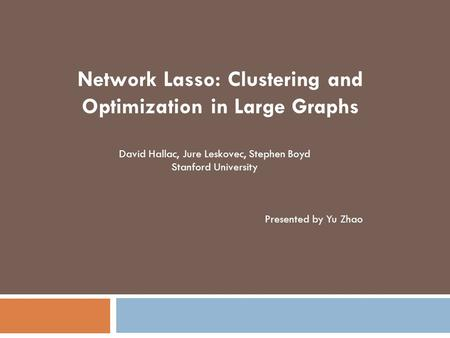 Network Lasso: Clustering and Optimization in Large Graphs
