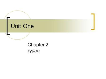 Unit One Chapter 2 !YEA!. Journal So, your friend wants to copy your homework. Not uncommon. They always ask you. You don't want to…  How are you going.