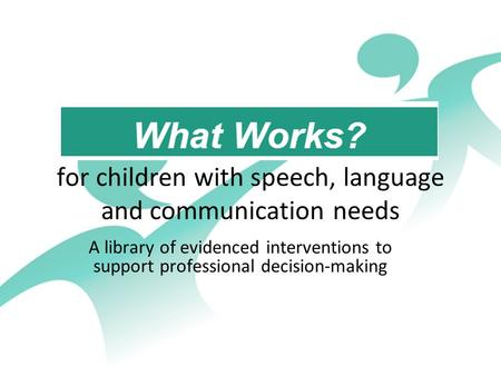 speech language and communication essay Analyse the importance of early identification of speech, language and communication delays and disorders and the potential risks of late recognition explaining how.