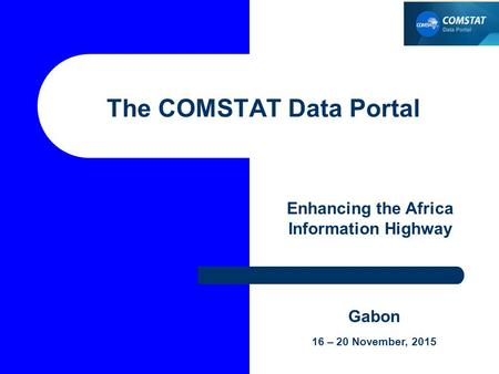The COMSTAT Data Portal