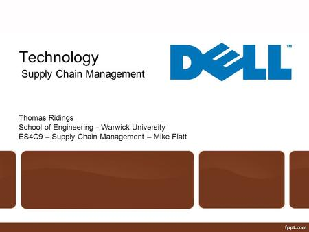Technology Supply Chain Management