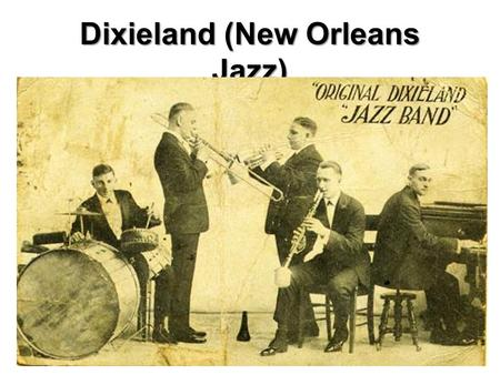 Dixieland (New Orleans Jazz). Origin Around 1910 a new style of music, Jazz, became popular in New Orleans, Louisiana. Jazz was influenced by many sources:
