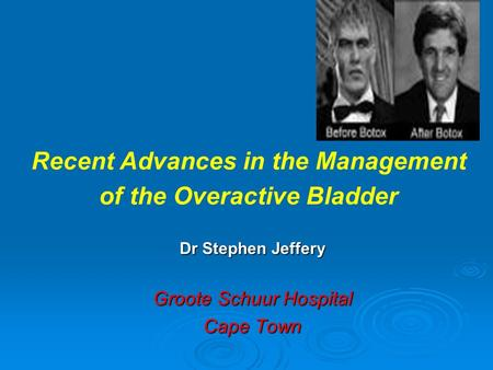 Dr Stephen Jeffery Groote Schuur Hospital Cape Town