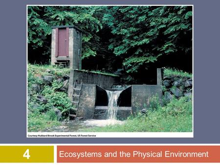 Ecosystems and the Physical Environment 4. © 2012 John Wiley & Sons, Inc. All rights reserved. Overview of Chapter 4  Cycling of Materials within Ecosystems.